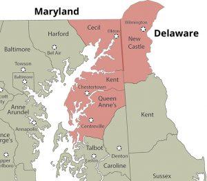 Service area map.